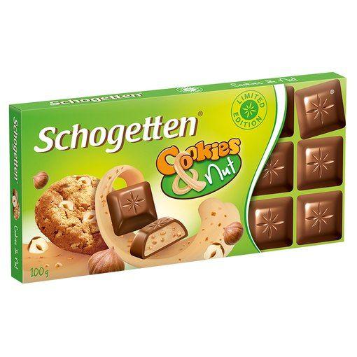 Новинка от Шогеттен (Германия, 100г) в наличии: - печенье с арахисовым маслом - печенье с орехом - печенье с черникой Цена 26 грн.  ChocoShop.com.ua