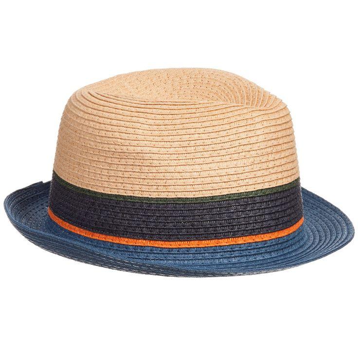 Paul Smith Junior Boys Blue Trilby Hat  at Childrensalon.com