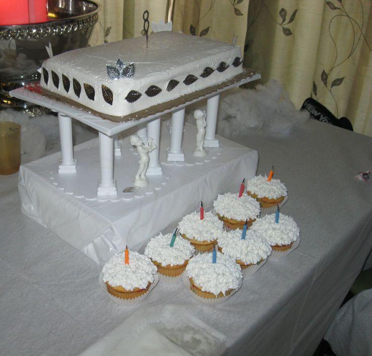 Parthenon Inspired Birthday Cake Greek Roman Party