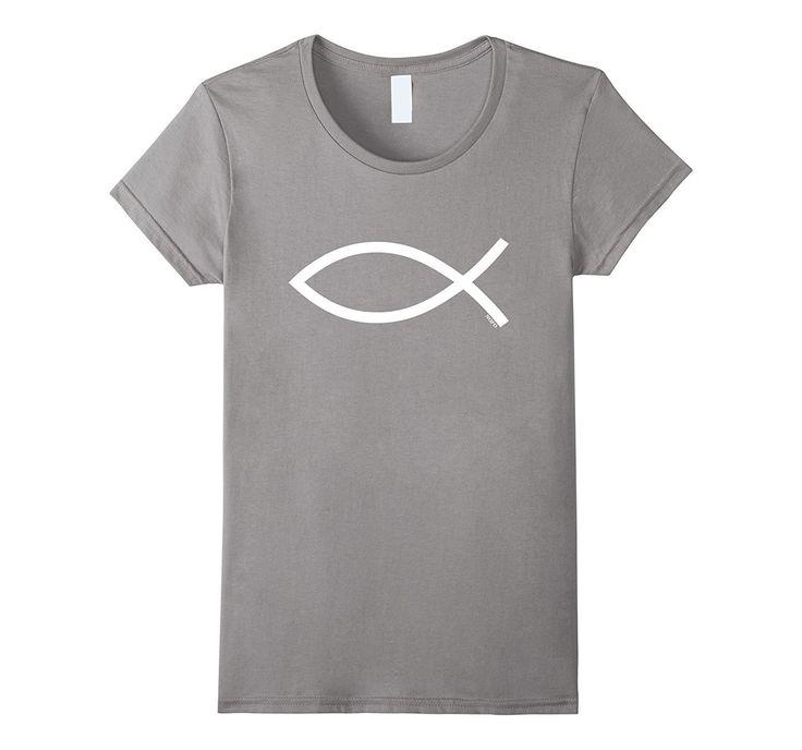 Ichthys- Ichthus- Christian Symbol- Jesus Fish T-Shirt