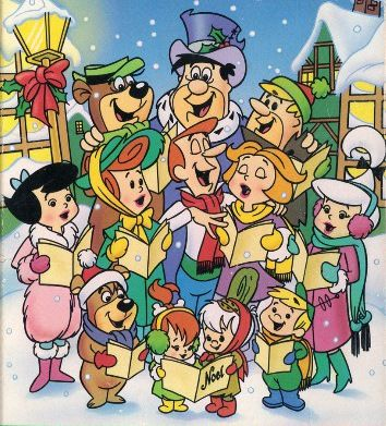 THE FLINTSTONES, THE RUBBLES, THE JETSONS, YOGI and BOO-BOO SINGING CHRISTMAS CAROLS""