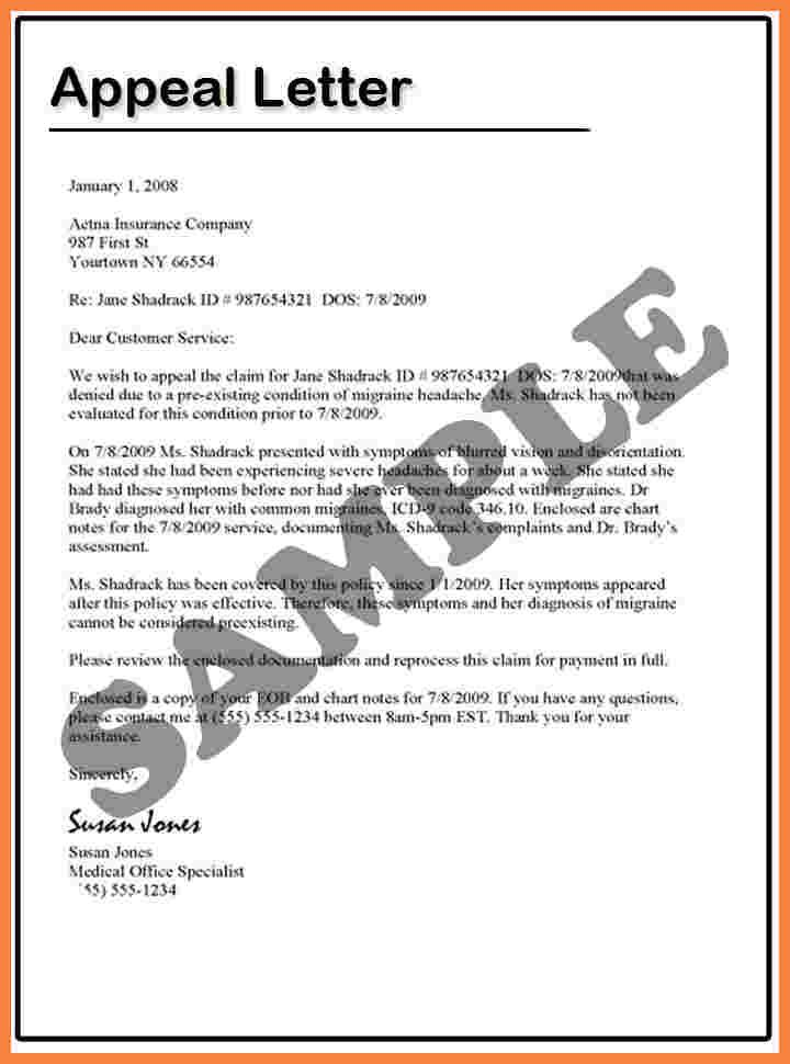 How Write Appeal Letters Letter For School  Home Design Idea