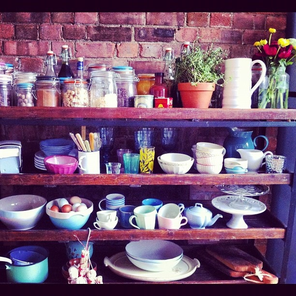 I want these jamie oliver kitchen shelves and contents for Jamie oliver style kitchen design