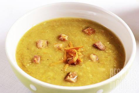Soupe aux pois à la mijoteuse http://www.recettes.qc.ca/recette/soupe-aux-pois-mijoteuse-153147 #recettesduqc #soupe #mijoteuse