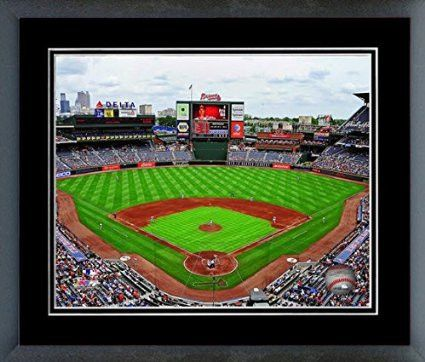 Atlanta Braves Turner Field Framed With Team Color Double Matting Ready To Hang- Awesome & Beautiful