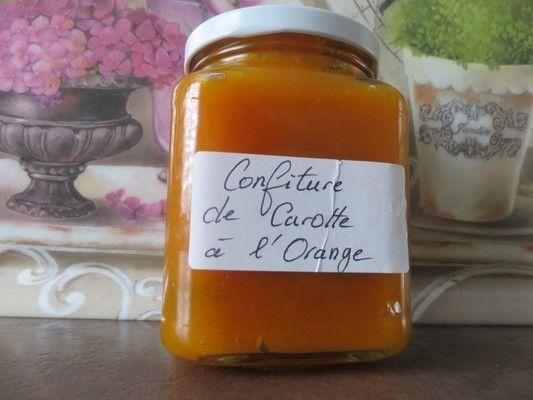 Confiture de carottes et  agrumes