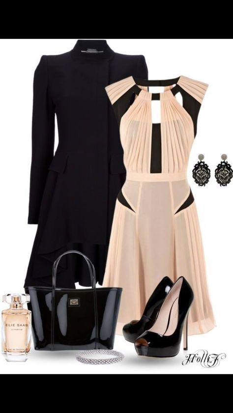 Gorgeous dress- and I could use a dressier coat that looks great with dresses