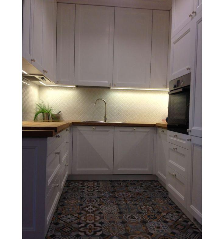 Arabeska mała, biała, szkliwiona - płytki ceramiczne/mozaika| sklep RawDecor.pl