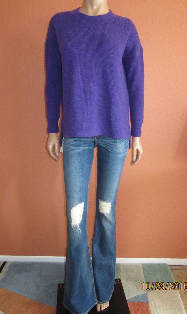 292dfdf03 POLO Ralph Lauren Waffle Knit Cashmere Sweater Pullover Purple Size S ~NWT~   PoloRalphLauren  Crewneck
