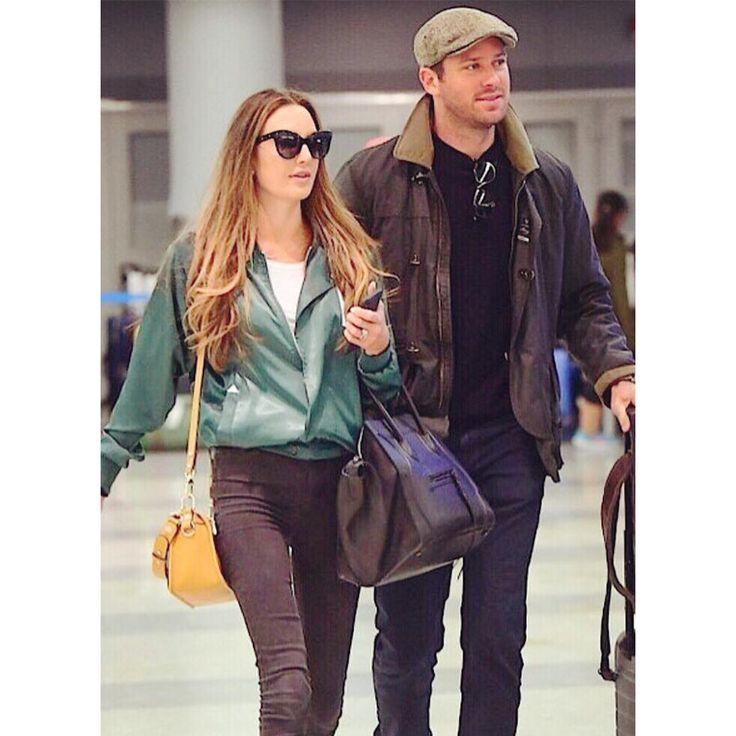 """""""Call Me by Your Name""""' actor Armie Hammer, spotted wearing a Fay Jacket. Picture by @elizabethchambers."""