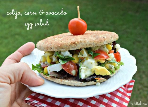 This easy egg salad recipe transforms the traditional into a fiesta of southwestern flavor. Add to a bed of lettuce, sandwich between bread or stuff in a tomato! Perfect for a picnic lunch - thefitfork.com