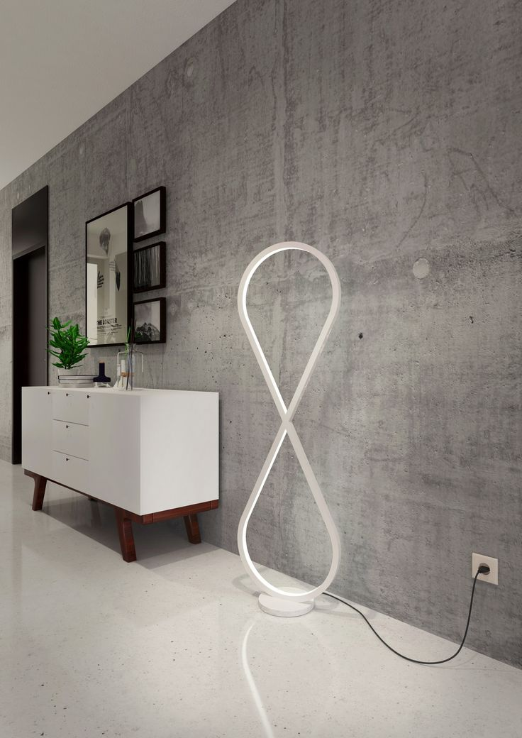 Floor Lamp, Standing Lamp, LED Oleant Infinity In Pearl White | Infinity  Lamp