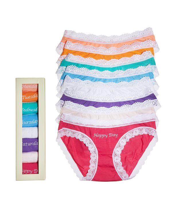 Cheek Frills Bikinis - Days of the Week, Set of 8 #8KNDOWKMU