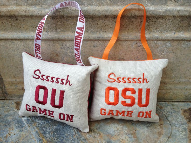 New OU & OSU Game on hangers by kB Crafting Solutions.  www.facebook@kbcrafting