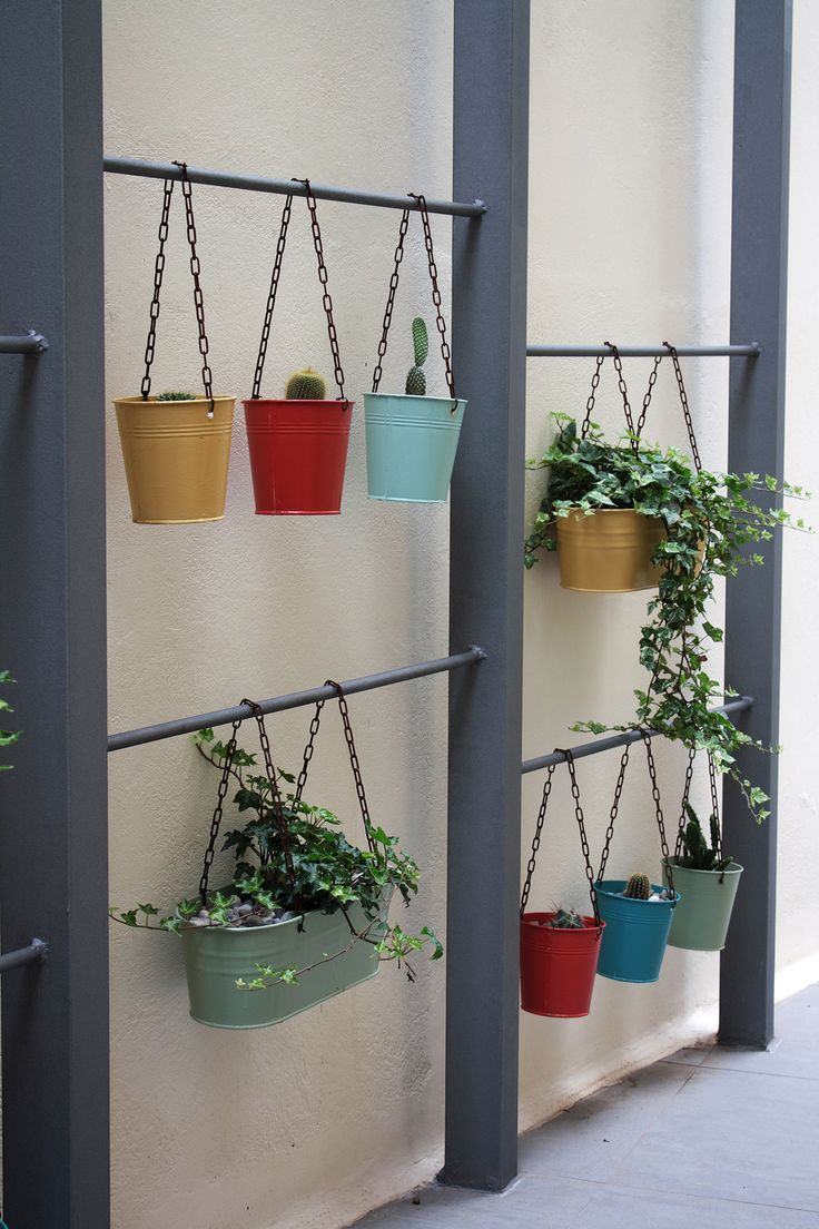 "Pergola decoration. Check our project ""Idea, design and construction of patio and garden."" @Behance #patio #landscapedesign #plants #Architecture #pergola #gardening #gardendesign #landscaping #passageway #hangingpots"