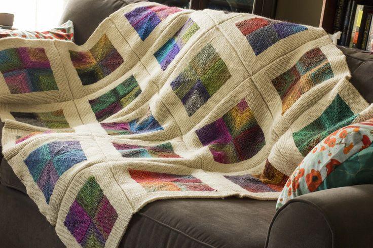 Mitered Squares Blanket   Flickr - Photo Sharing!