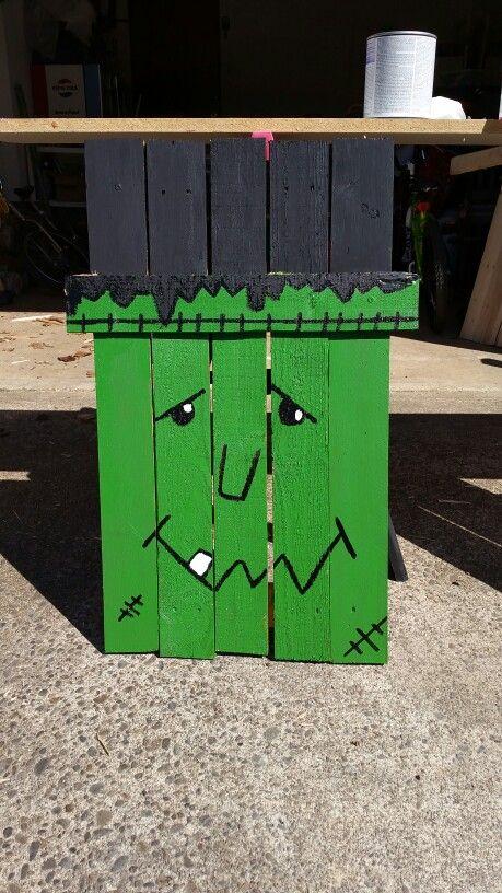 Frankenstein pallet sign