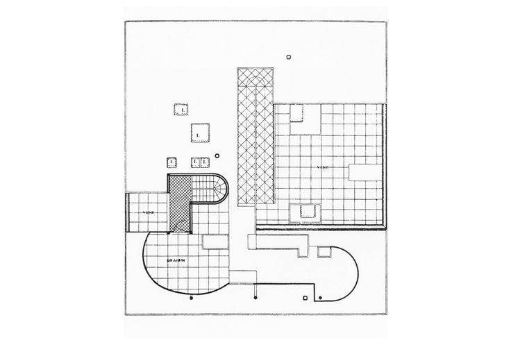 Plant cover. Villa Savoye, Le Corbusier's machine of inhabit.