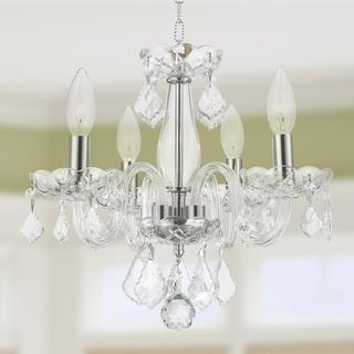 Shop for Kids Room Chandelier 4-light with Clear Crystal Mini Chandelier Chrome Finish. Get free shipping at Overstock.com - Your Online Home Decor Outlet Store! Get 5% in rewards with Club O! - 17252189