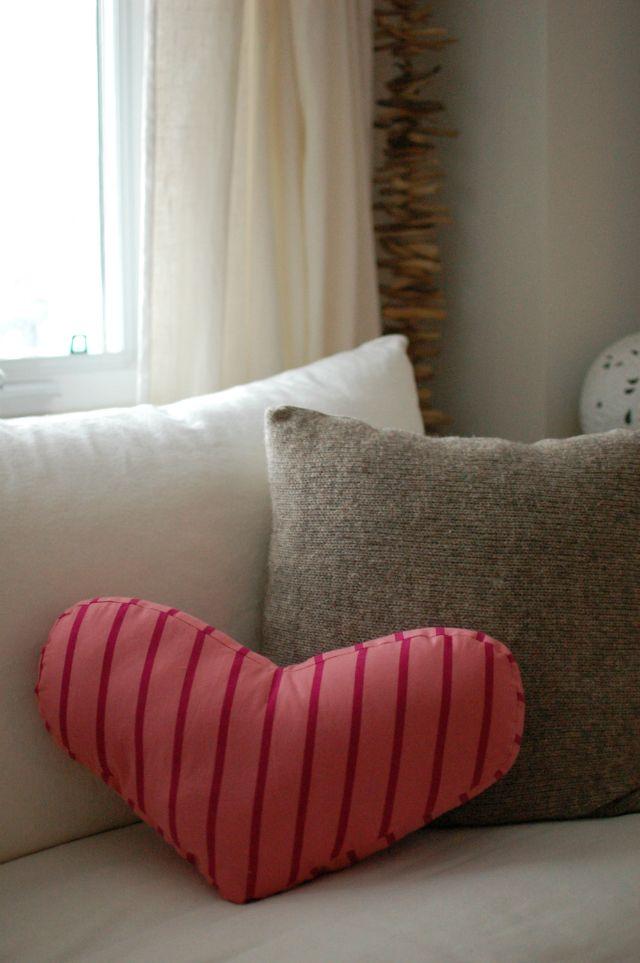 heart shaped pillow ♥