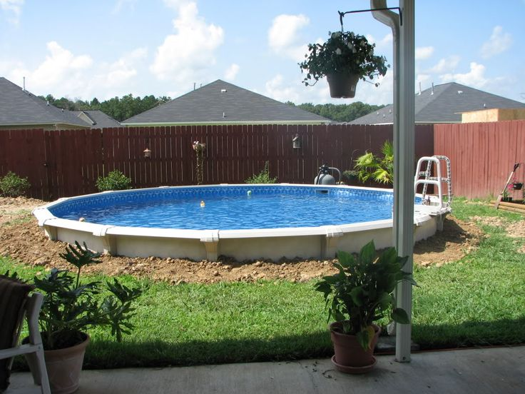 25 best ideas about above ground pool slide on pinterest for Half in ground pool ideas