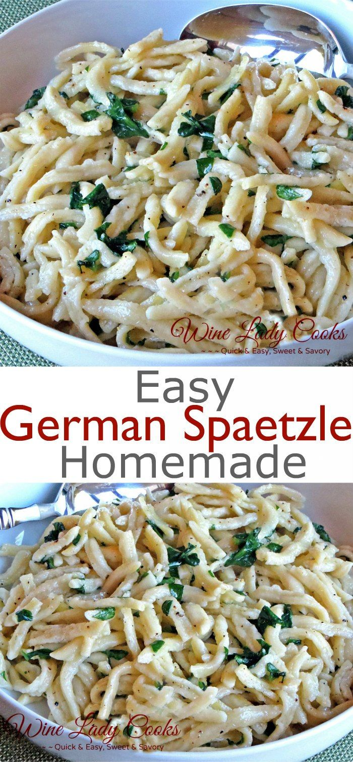 easy homemade german spaetzle recipe. Click thru for details. #spaetzle #oktoberfest #GermanNoodles