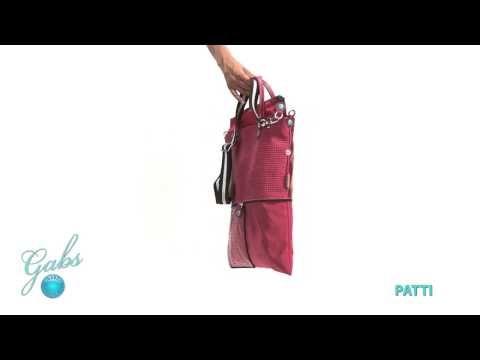 Gabs Patti– De tassen van het Italiaanse merk Gabs zijn multifunctioneel. Bekijk hoe je van 1 tas, verschillende modellen kunt maken. #multifunctioneel #gabs #handbag #bag #video