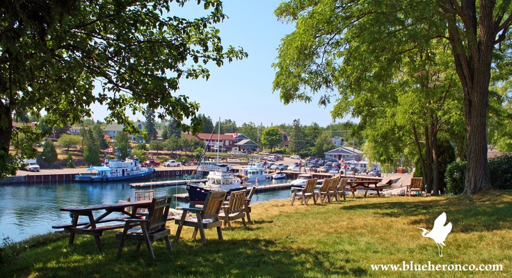 Enjoy the View of Little Tub Harbour from one of our comfortable and conveniently located motel rooms.  www.blueheronco.com