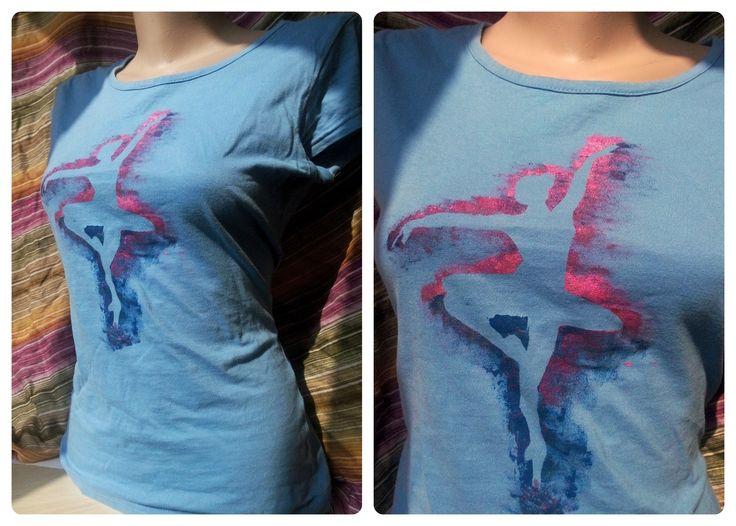 tricou pictat cu culori speciale pt textile, se spala normal la 30 de grade- 70 ron www.odaiacupicturi.ro