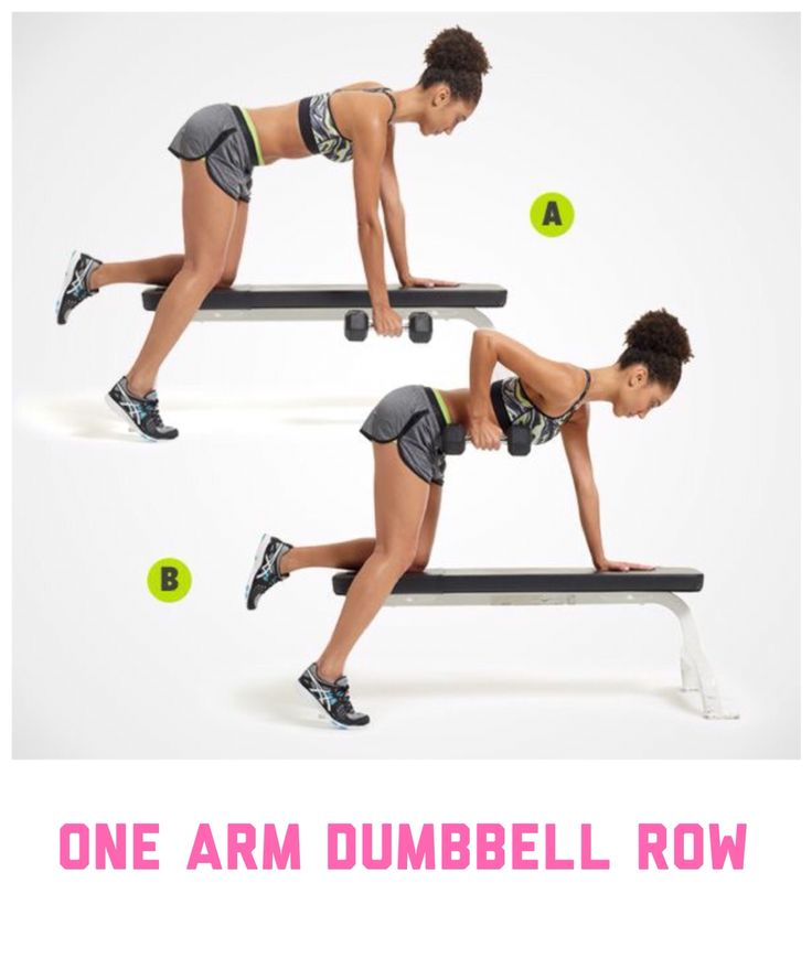 Best ideas about one arm dumbbell row on pinterest
