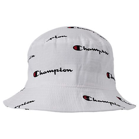 a0df1a72 CHAMPION ALL OVER SCRIPT REVERSE WEAVE BUCKET HAT, WOMEN'S, WHITE. #champion  #