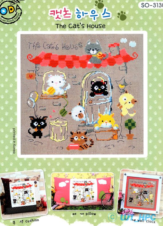 The Cat's House  Counted cross stitch chart. by GeniesCrossstitch
