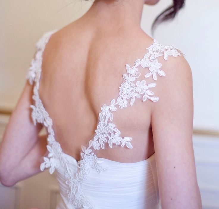 109 best images about adding straps to a wedding gown for Adding straps to wedding dress