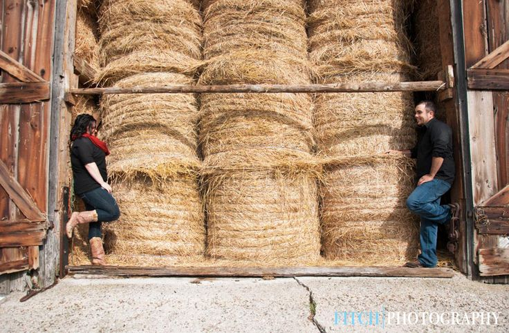 Engagement photos in the barn! It made for such a great backdrop - paired perfectly with some cowboy boots!   Fitchphotography.com