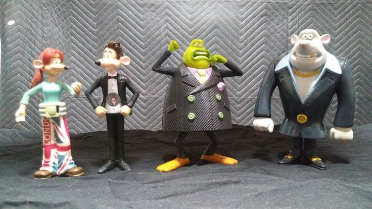 Flushed away mcdonalds Action figures lot of 4