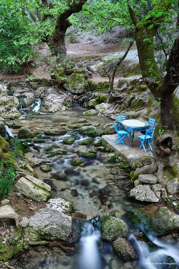 One of the most charming destinations on Rhodes, Seven Springs offers a cool, magical landscape, a real oasis, even in the heat of high summer, swamped in greenery.