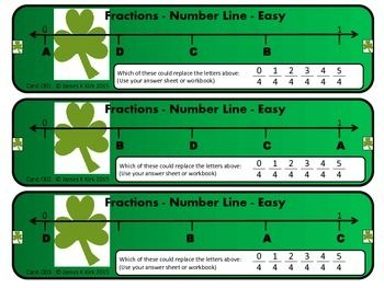 St Patrick's Day style fractions challenge cards to print and laminate. Great resource.