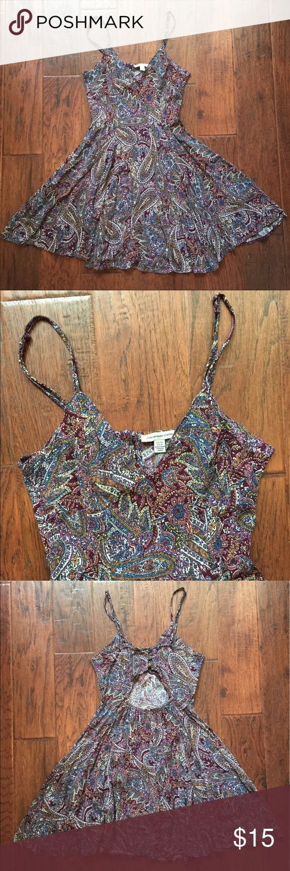 American Eagle Paisley Dress American Eagle Dress - Paisley - Adjustable Spaghetti Straps - Back Cutout - Size XS - really cute dress, only worn once American Eagle Outfitters Dresses Mini