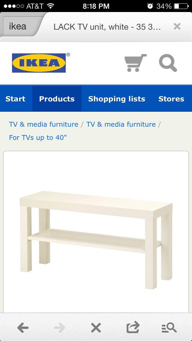 Narrow tv stand