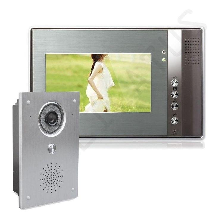 Farb Video Gegensprechanlage Türsprechanlage 1 x 7  Monitor Klingel Sprechanlage