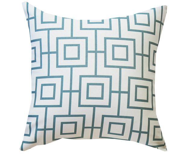 Bondi in White & Ocean - Love this gorgeous and Elegant Cushion. $80.00 http://www.tropique.com.au/product/bondi-in-white-ocean/