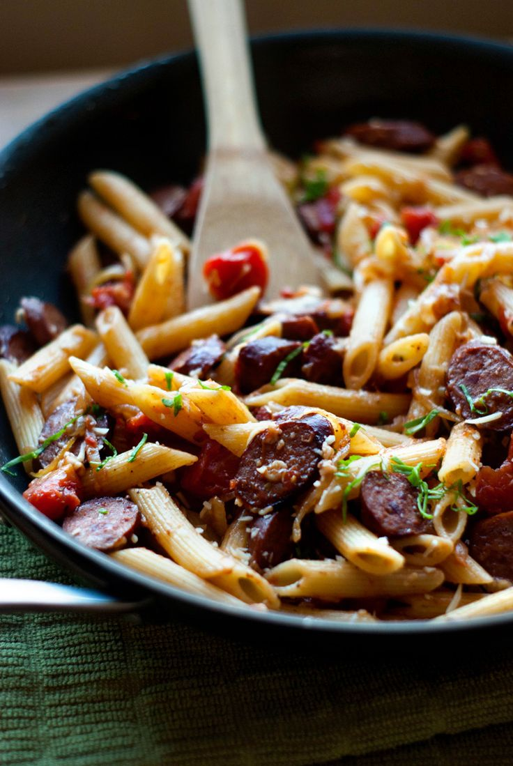 ... PASTA on Pinterest | Skillets, Baked pasta recipes and Smoked sausages