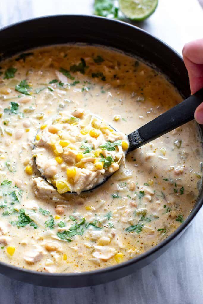 Creamy White Chicken Chili Recipe Creamy White Chicken Chili Chicken Chili Favorite Chili Recipe