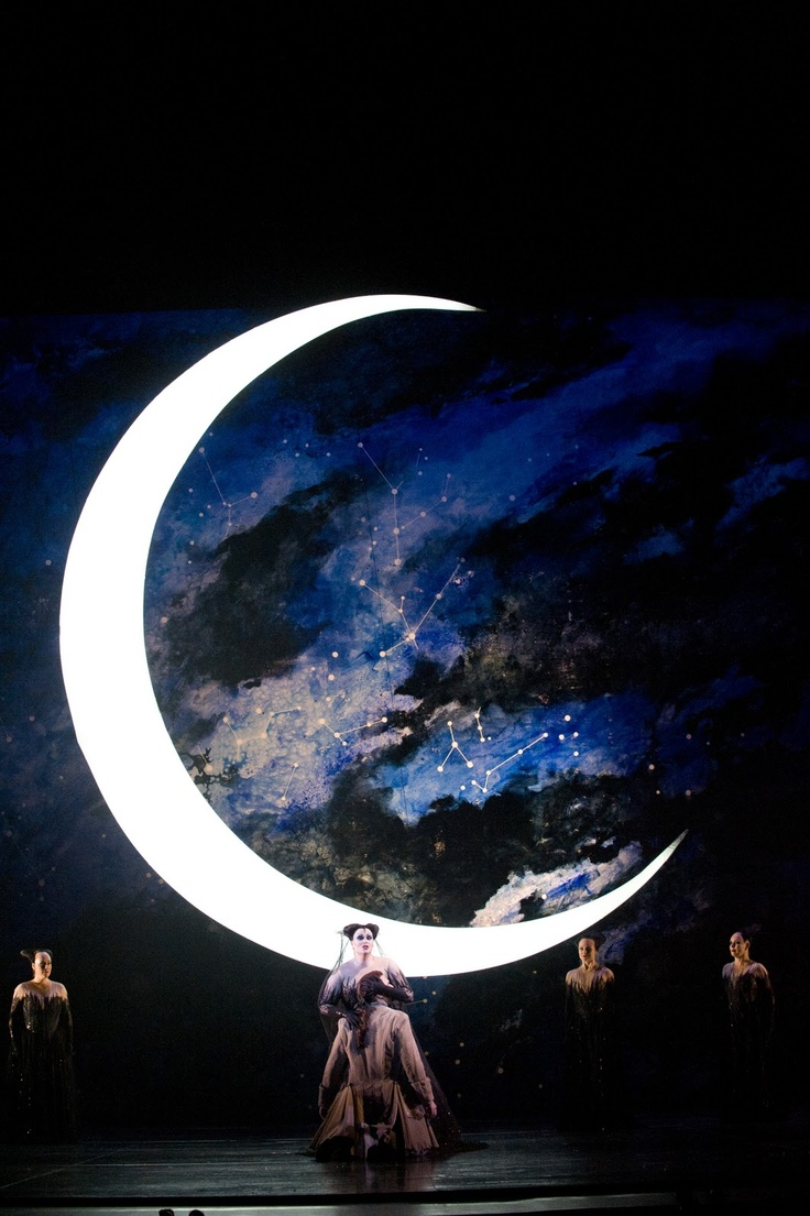 """This Backdrop. Diana Damrau as Queen of the Night in Mozart's """"The Magic Flute""""."""
