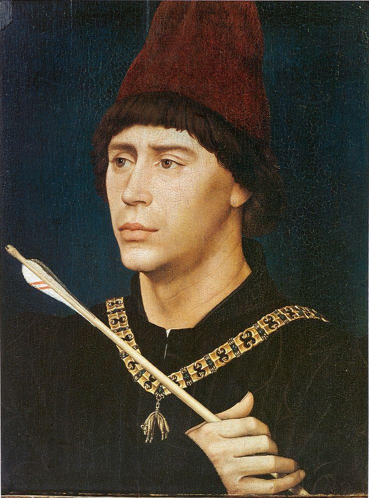 Rogier van der Weyden:Portrait of Antoine, 'Grand Bâtard' of Burgundy, c. 1460