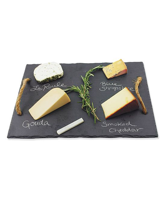 Natural Slate Cheese Board with Chalk