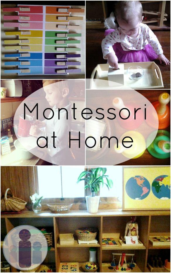 DIY montessori toddler activities...Montessori schools are expensive but I LOVE their philosophy