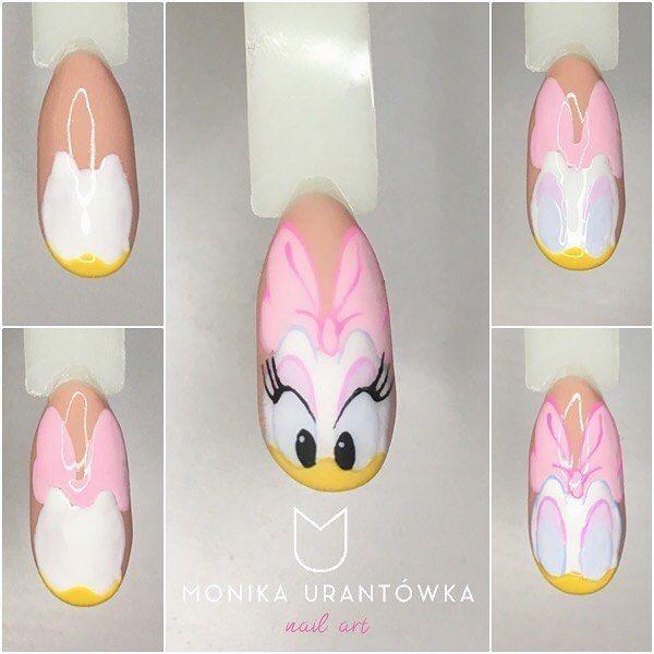 Słodka Daisy   @indigonails   #nails #indigo #stepbystep #tutorial #nailart #nailsart #daisy #disney #nailsdone #nailswag #nailstagram #instanails #inspiration #cute #art #picoftheday