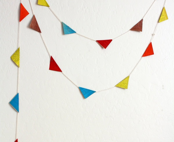 recycled paper garland