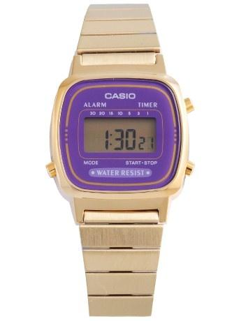 Casio watch (gold/purple)